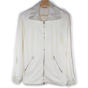 Prada Nylon Windbreaker Jacket White Full Zip